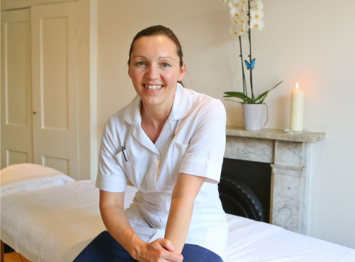 Alison Arden in acupuncture treatment room